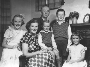 1950s. With his family in New Zealand. Terry is standing at right.